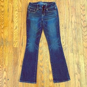 AEO Size 00 short Kick Boot Stretch Jeans
